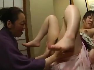 Japanese Teen Molested By Mature Lesbian here Kimono