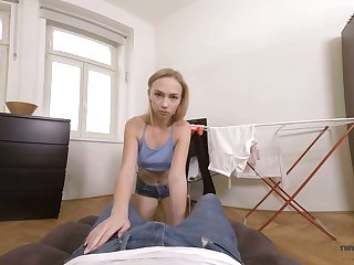 Libidinous stepbrother fucks nice stepsister Jenny Wild with reference to hot POV scene