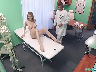 Anxiety Claire gets fucked by lasting doctor's dick greater than the hospital's bed