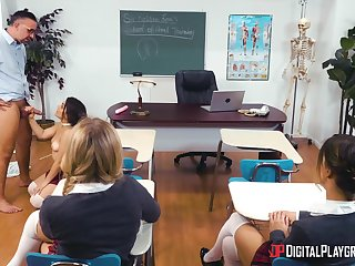 Anal sex in the classroom everywhere a fully hot teenager
